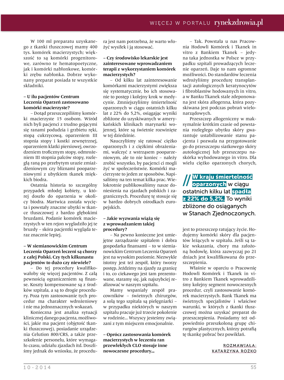 Rynek Zdrowia Październik 2