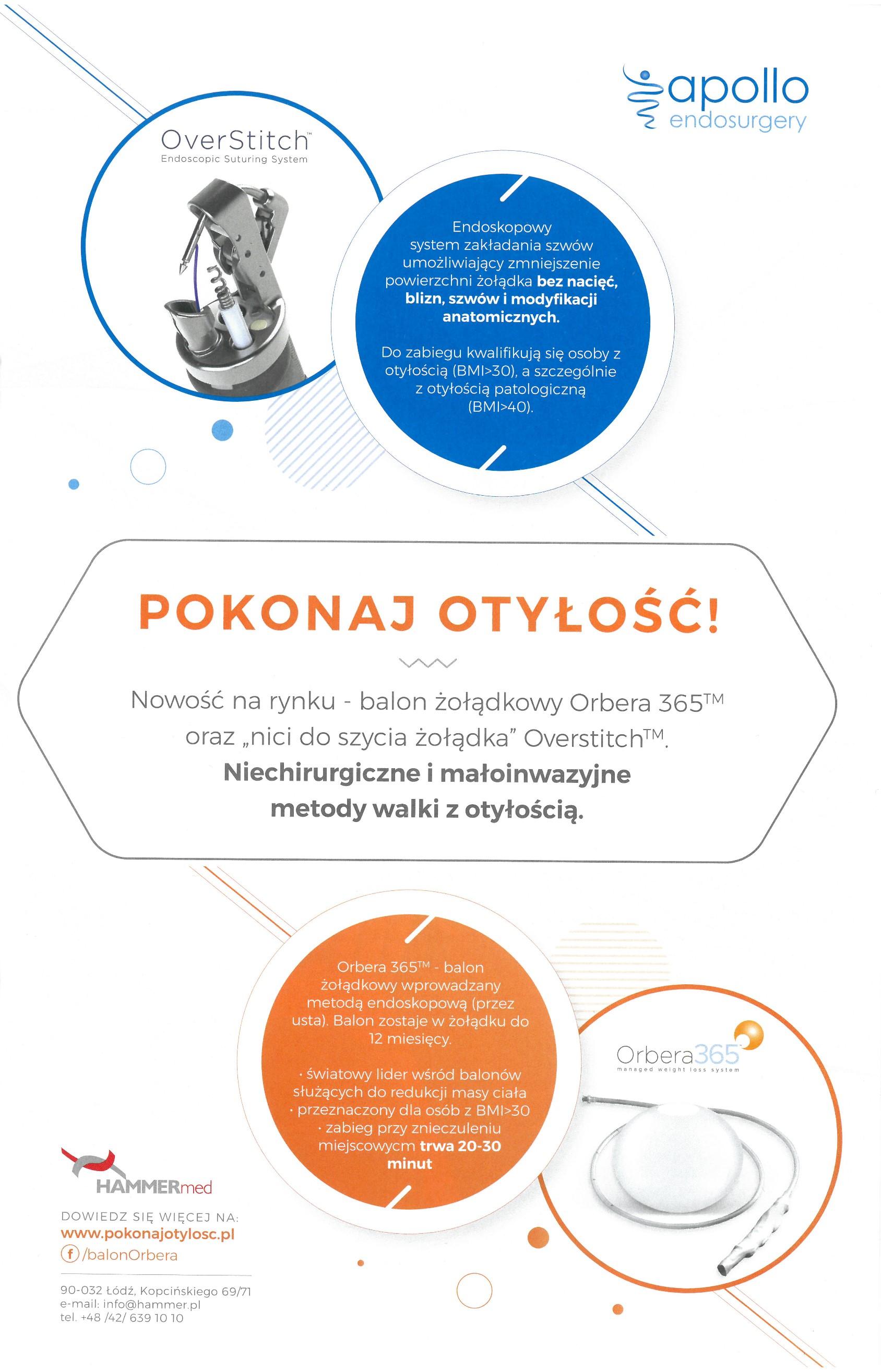 Innowacyjne i niechirurgiczne metody leczenia otyłości (OverStitch i Balon Orbera) - Newsweek Beauty